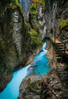 Leutasch Gorge in Bavaria, Germany