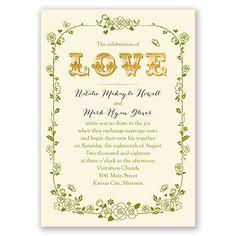 Rose Garden Wedding Invitation   Wedding Invites at Invitations By Dawn