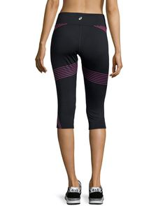 Shop Illusion™ Printed Capri Pants, Neon Purple from Asics at Neiman Marcus  Last Call, where you'll save as much as on designer fashions.