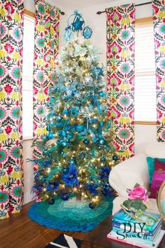 DIY Show Off, Blue Christmas Tree Ideas