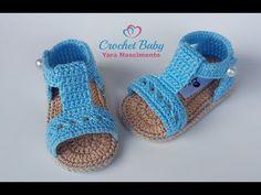 Sandálinha SUIANE de Crochê - Tamanho 09 cm - Crochet Baby Yara Nascimento - YouTube