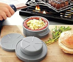 Stuff-A-Burger Press - cool for summer bbq - this can totally change up the usual burger!!