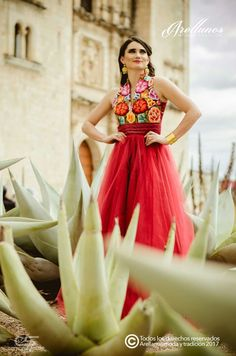 Dulce Fabric: Chiffon Embroidery type: Hand with needle Region in which it is made: Isthmus of Tehua Xv Dresses, Curve Dresses, Prom Dresses Two Piece, Quince Dresses, Formal Dresses, Mexican Outfit, Mexican Dresses, Mexican Hairstyles, Traditional Mexican Dress