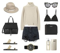 Knit + Shorts by fashionlandscape on Polyvore featuring Mode, Proenza Schouler, Neuw, Cosabella, Common Projects, Yves Saint Laurent, Larsson & Jennings, VALLEY, rag & bone and SK-II