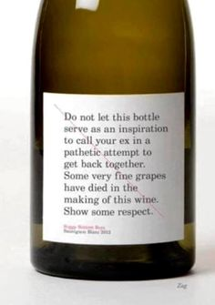 Some very fine grapes have died in the making of this wine lol