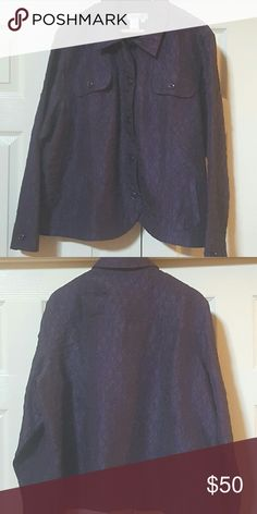 💚LAST CHANCE💚 Coldwater Creek lightweight jacket This Coldwater Creek lightweight jacket has beautiful purple buttons  and is excellent with slacks a dress or jeans very comfortable. Very lightly worn and professionally dry-cleaned Coldwater Creek Jackets & Coats Blazers