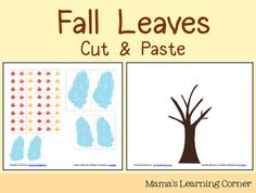Fall Leaves Cut & Paste Activity from Mama's Learning Corner