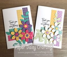 Paper Daisy Crafting: Pierced Blooms Thank You card for Facebook Live with Come Crafting with Jill & Gez Thank You Gifts, Thank You Cards, Paper Daisy, For Facebook, Large Flowers, Stuff To Do, Stampin Up, Card Stock, Give It To Me