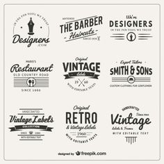 Find tips and tricks, amazing ideas for Vintage logos. Discover and try out new things about Vintage logos site Logos Vintage, Vintage Labels, Retro Vintage, Retro Font, Retro Logos, Lettering Design, Logo Design, Etiquette Vintage, Retro Stil
