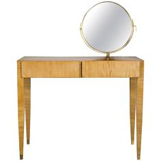 Dressing Table by Gio Ponti, 1955 | From a unique collection of antique and modern serving tables at https://www.1stdibs.com/furniture/tables/serving-tables/