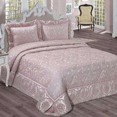 Evlen Home Double Bedspread Carina Powder Dream bedroom Dream Bedroom, Bed Cover Design, Bed Linens Luxury, Bed Decor, Cool Curtains, Bedroom Decor, Bed, Home, Bedroom