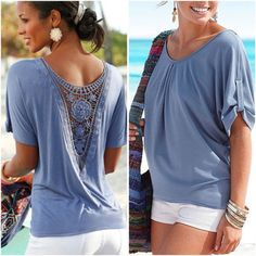 5803f93d87810 Details about Fashion Women Summer Loose Top Short Sleeve Blouse Ladies  Casual Tops T-Shirt