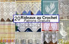 Rideaux au Crochet Fait Main - Patrons Gratuits