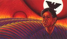 Cesar Chavez by Simon Silva kp Cesar Chavez Movie, Raza Latina, Hispanic Art, Modern Indian Art, Latin Artists, Street Mural, Day Of The Dead Skull, Diego Rivera, Chicano Art