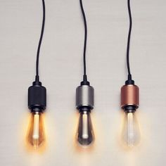 British design label Buster + Punch make extraordinary items for everyday use, their latest product are these gorgeous LED bulbs and matching Heavy Metal Pendants. The Buster Bulb features a resin light pipe at the center, allowing it to create a sub Vintage Stil, Vintage Design, Luminaria Diy, Deco Led, Design Loft, Energy Efficient Lighting, Style Deco, Luminaire Design, Luz Led
