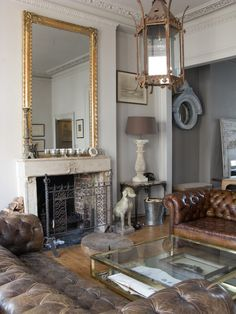 Brass table heaven. Alex MacArthur {eclectic vintage baroque modern living room} by recent settlers, via Flickr