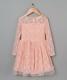 Look at this Pink Lace Babydoll Dress - Toddler