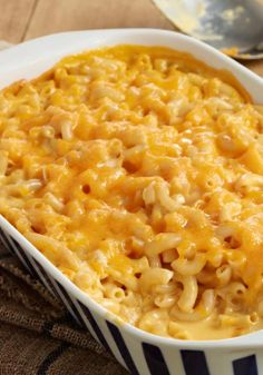 Super Cheesy Baked Macaroni & Cheese – Trust us, this ooey-gooey warm-from-the oven bake is cheesier than you ever though possible. Your kids will fall in love with macaroni and cheese all over again.