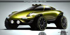 Alan Derosier - Transportation design: Porsche DKR