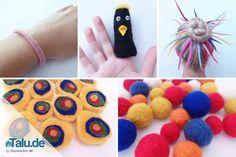 Start Basteln Basic Course: Wet Felting - instructions and ideas for children Diy For Kids, Crafts For Kids, Arts And Crafts, Diy Crafts, Nuno Felting, Needle Felting, Diy Mode, Textiles, Wool Felt