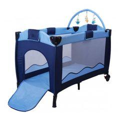 Buy Portable Baby Travel Cot Bassinet Blue |Homcom
