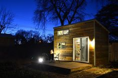"""The Chico Tiny House is a 120 sqft home built by a husband and wife team on a limited budget and no construction experience, to fit into their dream of converting their backyard into a sustainable micro homestead."""