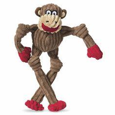 Sugar Lips Monkey Tuffut Toy - Dog Beds, Gates, Crates, Collars, Toys, Dog Clothing & Gifts