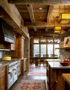 Log Home Kitchen Design Ideas, Pictures, Remodel, and Decor - page 12