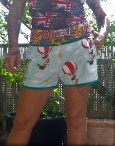 Handmade Einzelstück Shorts Alternativ Metal Style, Unisex, Punk Rock, Rockabilly, Shirts, Fashion, Alternative, Trousers, Moda