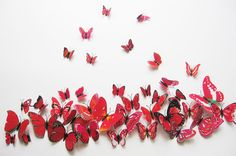 12pcs 3D Butterfly wall stickers  fridge magnet wedding photography