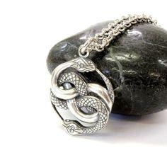 AURYN Necklace Sterling Silver AURYN Pendant Necklace by mrd74