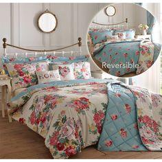 Vintage & Charming! Floral Blooms Duvet Cover - Ditsy Flower Reversible Bedding