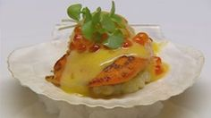 Scallops with Pearl Tapioca and Yarra Valley Salmon Caviar
