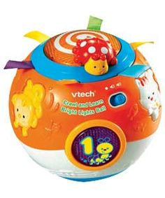 VTech Crawl and Learn Bright Lights Ball Interactive magically moving ball - catch it if you can! Specially built-in motor activates to make the ball roll around, promoting crawling1 The limited controlled movem (Barcode EAN = 0050803473136) http://www.comparestoreprices.co.uk/educational-toys/vtech-crawl-and-learn-bright-lights-ball.asp