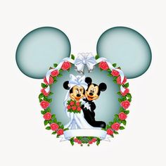 Minnie and Mickey Wedding Free Printables. Mickey And Minnie Wedding, Mickey And Minnie Love, Mickey Mouse Art, Mickey Mouse Wallpaper, Mickey Mouse And Friends, Wallpaper Iphone Disney, Disney Pixar, Disney Fun, Disney Magic