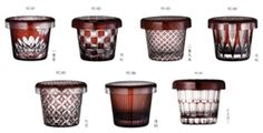 This is a series of modern style of Edo Kiriko glass. My favorite one's are B and F. Which ones of you like most?