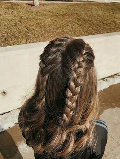 Messy Hairstyles, Pretty Hairstyles, Amazing Hairstyles, Hairstyle Ideas, Braided Hairstyles Medium Hair, Hairstyle Braid, Braid Hair, Black Hairstyles, Hairdos
