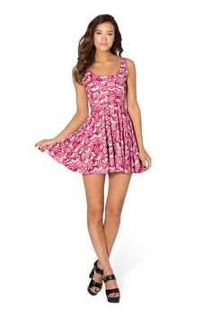 We're All Mad Here Scoop Skater Dress by Black Milk Clothing $95AUD