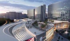 Xiamen Wu Yuan Wan Mixed-Use Development Winning Proposal,Courtesy of Aedas