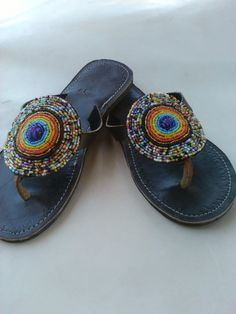 2eeac5eaeca239 Rainbow Magic Real Leather Handmade Beaded African by DucaLamBasa