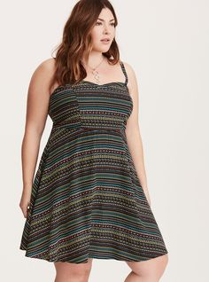 Shop Women's torrid size 0 Midi at a discounted price at Poshmark. 😕 size Sold by Fast delivery, full service customer support. List Style, Style Me, Tank Dress, Stripe Print, Dress Me Up, Torrid, Plus Size Fashion, Summer Dresses, Tic Tac