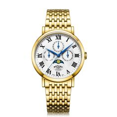 Stainless Steel Watch, Stainless Steel Bracelet, Rotary Watches, New Windsor, Gold Crown, O Ring, Gold Watch, Bracelet Watch, Watches For Men