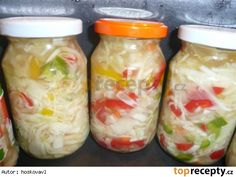 Czech Recipes, Raw Food Recipes, Healthy Recipes, Ethnic Recipes, Pickling Cucumbers, Tomato Vegetable, Kraut, Fresh Rolls, Preserves