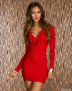 Rochie SweetKnit Red New Fashion, Bodycon Dress, Dresses With Sleeves, Coat, Long Sleeve, Red, Romania, Passion, Quotes