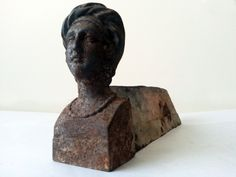 Christmas gift for him or her ,French decor Antique french fireplace andiron/Firedog form of female bust/Gift for hubands,wife,girfriend by PetitesChosesDeLaVie on Etsy