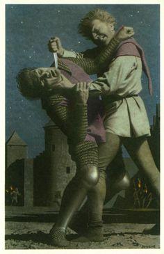 """Les matines de Bruges sont le massacre au cours de la nuit dans leur chambre à coucher d'un millier de partisans du roi de France, dont la garnison française logée chez l'habitant et de bourgeois par les membres des milices communales flamandes le 18 mai 1302. La dénomination """"matines"""" a été donnée par analogie avec les Vêpres siciliennes. Cette révolte mena à une autre bataille célèbre, la bataille des Éperons d'or, qui opposera les milices flamandes aux troupes françaises le 11 juillet."""