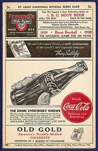 1992 St Louis Cardinals Coca-Cola National Pin Night Card