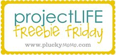 Project Life Freebie Friday. A new printable each and every Friday in 2012 via Plucky Momo.