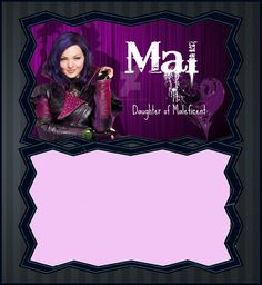 Descendants Mal Invitation Template