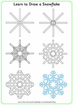 Learn to draw a snowflake